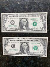 $1 CRISP UNC 1969 DOUBLE MATCH  FED. RESERVE NOTE #29282726