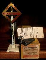 PREWAR LIONEL O GAUGE WHITE #069 1921 FIRST RUN WITH YELLOW BOX SINGLE BELL...M7