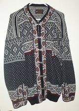 Men's Norsk Wear of Norway Diamond Birdseye Pewter Clasp Cardigan Sweater Size L