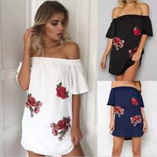 Womens Beachwear Bikini Beach Wear Cover Up Swimwear Floral Summer Shirt Dress