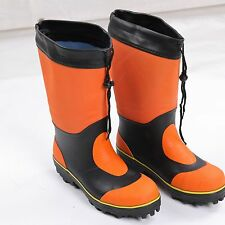 Orange Outdoor Hiking Shoes Climbing Anti-skid Fishing Boots Trekking Waterproof