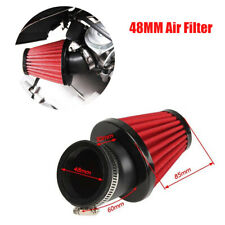 Red 48mm 45° Bend Air Intake Filter with Adjustable Clamp for Motorcycle Bike