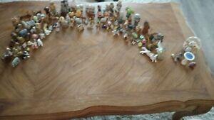 Vintage Miniature Animal Figurines lot ceramic porcelain bone china 100 + pieces