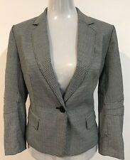ANNE KLEIN WOMEN'S FITTED HOUNDSTOOTH JACKET SIZE 8 BUSINESS, CORPORATE, WORK