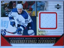 2005-06 UPPER DECK SHOOTING STARS GAME USED JERSEY -ALEXANDER MOGILNY -DEVILS