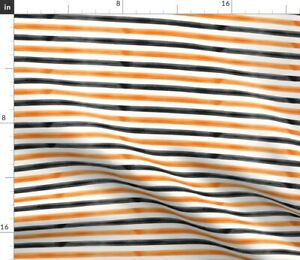Fall Trendy Halloween October Black And Orange Spoonflower Fabric by the Yard