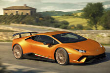 Lamborghini Huracan Performante Style Stripe Door Decal Italian Flag colors