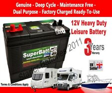 12V 120AH Heavy Duty Deep Cycle Leisure & Marine Battery - SuperBatt DT120