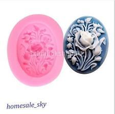 neu Silikon Kuchenform Backform Kastenform Brotform Rosa Blumen Dekor