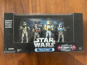 Hasbro Star Wars Trilogy Clone Trooper Builder 4-Pack Color Damaged EE 2005