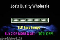 (20)WARM WHITE 8V LED FUSE LAMPS/STEREO/2385 4270 4300 4420 4430 2230/Marantz