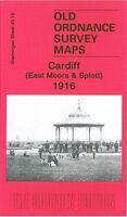 Old Ordnance Survey Map Cardiff East Moors & Splott 1916 - Glamorgan Sheet 43.16