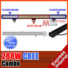 44 INCH 288W CREE LED SPOT FLOOD COMBO LED 4WD WORK LIGHT BAR OFFROAD 234w/240w