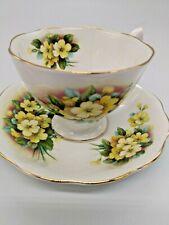 Royal Albert Bone China Tea Cup & Saucer Yellow Floral