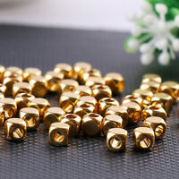 100Pcs Handmade Antique Gold Raw Brass Beads Spacers Strand for Necklace Making