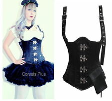 Satin Glamour Lace Up Basques & Corsets for Women