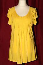 962 Shirt Damen Top Laura Scott Tanktop 34 bis 50 weiß mit Glanzprint Neu