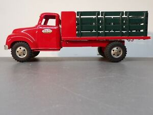 VINTAGE ALL ORIGINAL 1950's PRESSED STEEL TONKA TOY STAKE TRUCK EXCELLENT