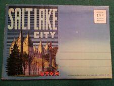 Salt Lake City, Utah Postcard Booklet - Vintage 1950's ?