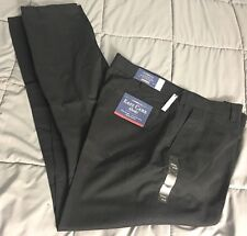 New Croft and Barrow 38x34 Pants Easy Care Khaki Straight Fit Flat Front Black
