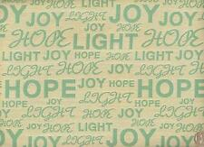 mayer Positive thoughts Peace  Script Writing Hope Light Joy Upholstery Fabric