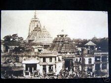 India~Juggernaut Temple At Puri~Old Postcard