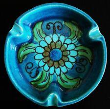 Vintage Retro Eames parker Era 60's Bitossi Turquoise Blue Bowl Dish ashtray
