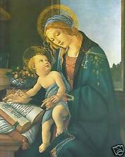 """Catholic Print Picture Madonna and Child by Botticelli - ready to frame -8x10"""""""