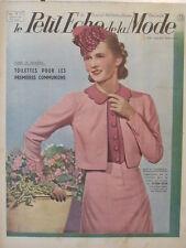 Le Petit Echo de la Mode N° 13  du 31/03/1940 Art Déco Journal Naissance