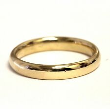 14k yellow gold mens wedding band ring 5.7g gents 4mm comfort fit vintage estate