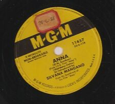 Silvana Mangano on 78 rpm MGM 11457: Anna/I Loved You