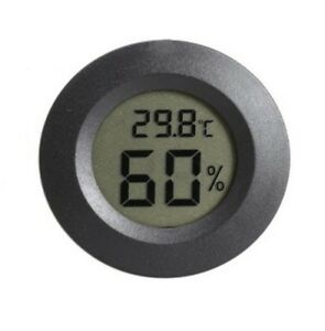Electronic Thermometer Humidity Digital LCD Display Round Temp Meter #E18