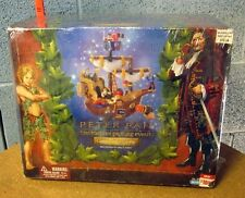 PETER PAN action-figure Captain Hook Pirate Ship toy set 2003 film Jason Isaacs
