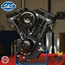 "S&S V111 BLACK EDITION COMPLETE 111"" ENGINE 585 CAMS HARLEY 84-99 EVO 310-0828"