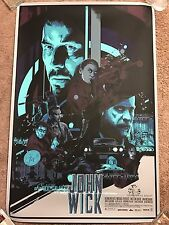 Vance Kelly John Wick Art Print Movie Poster Mondo Keanu Reeves Willem Dafoe HTF