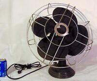 Robbins & Myers R&M Metal Black Electric Fan Deco 1930's