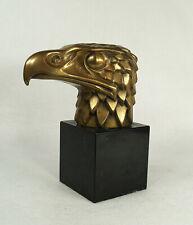 Antique Original Bronze  Eagle Head Mascot Car Sculpture 1930's