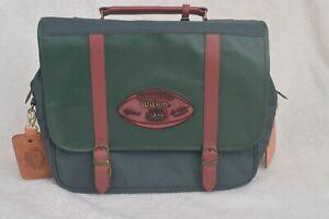 Official NFL Super Bowl XXXIV (2000) Pigskin Leather Football Laptop Bag Satchel