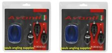 2 Sets of Avanti Carp Fishing Swim Feeder mix-method in line inline & Mould Kit