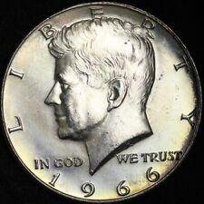 1966 Kennedy Half Dollar BU TONED FREE SHIPPING E322 T