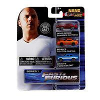 Jada Toys Nano Hollywood Rides Series 1 Fast And Furious 3 Pack Set NEW