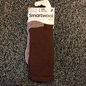 NEW Smartwool Mens Hike Merino Wool Crew Socks - Cushioned - Burgundy - Large
