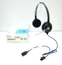Plantronics SupraPlus Wideband HW261/A Black Headsets + U10P Cable P/N 26716-01