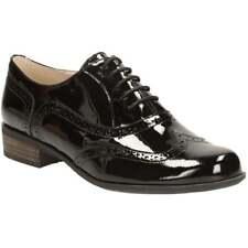 Clarks Narrative Hamble Oak Black Patent Leather Lace up Brogue Shoes UK 6 E