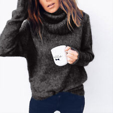 Women Turtleneck Baggy Tops Chunky Knitted Sweater Jumper Pullover Tops Knitwear