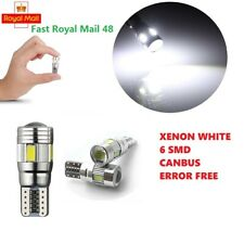 T10 CAR SIDE LIGHT BULB CANBUS ERROR FREE XENON WHITE 6 SMD LED 501 W5W WEDGE