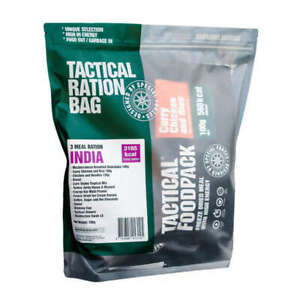 Tactical Foodpack Food Ration India (3 Meals) Freeze-Dried 1-Day Trip