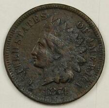1874 Indian Head Cent.  V.F. Detail.  128202