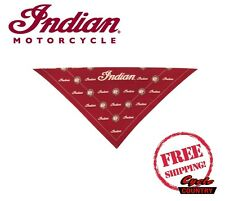 GENUINE INDIAN MOTORCYCLE BRAND BANDANA RED NEW FREE SHIPPING SCOUT CHIEF
