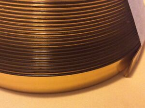 EDGING Strip gold  metalic plastic trim retro, 1970s vintage